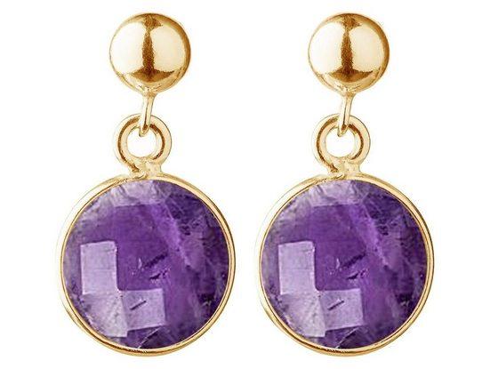 Gemshine Paar Ohrhänger »lila Amethysten - 925 Silber - Made in Spain«