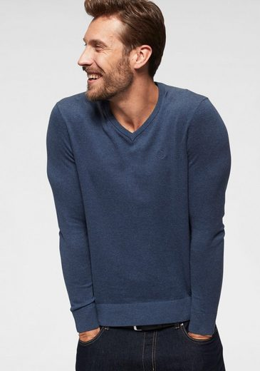 bugatti V-Ausschnitt-Pullover Feinstrickqualität, super weich