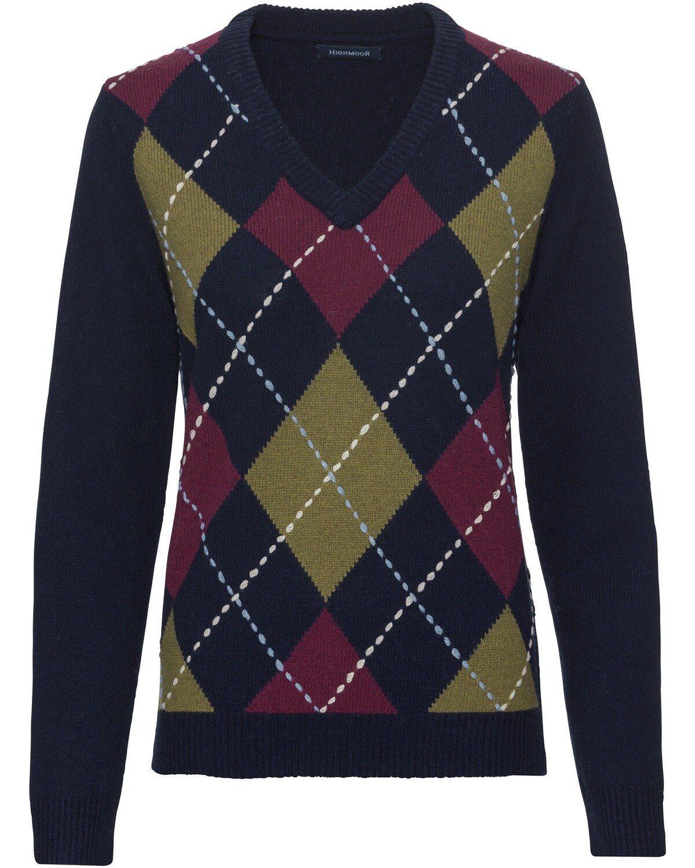 Highmoor V Rauten Pullover, Argyle Muster online kaufen | OTTO