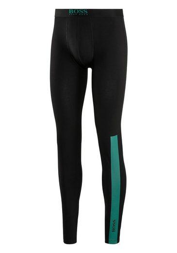Boss Lange Unterhose »Long John« mit Streifen Print und Logo auf dem Bein