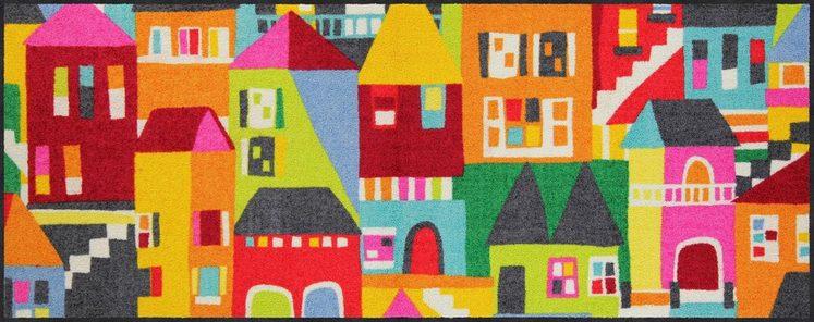 Läufer »Stencil City«, Salonloewe, rechteckig, Höhe 7 mm, waschbar