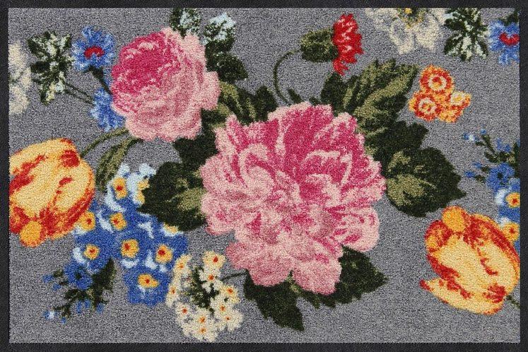 Fußmatte »Blooming Flower«, Salonloewe, rechteckig, Höhe 7 mm, waschbar