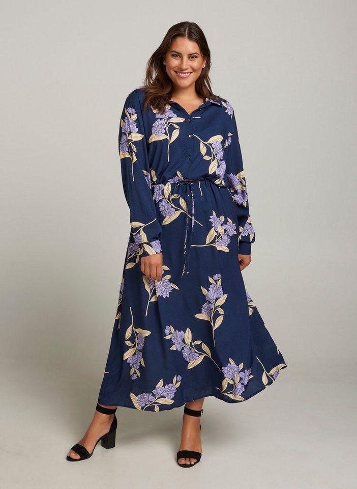 so billig großartiges Aussehen noch nicht vulgär Zizzi Maxikleid Damen Große Größen Maxikleid Blumenprint Langarm Sommer  Kleid online kaufen | OTTO
