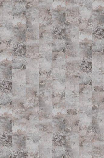 BODENMEISTER Teppichfliese »Velour Steinoptik Marmor grau«, selbsthaftend 25 x 100 cm