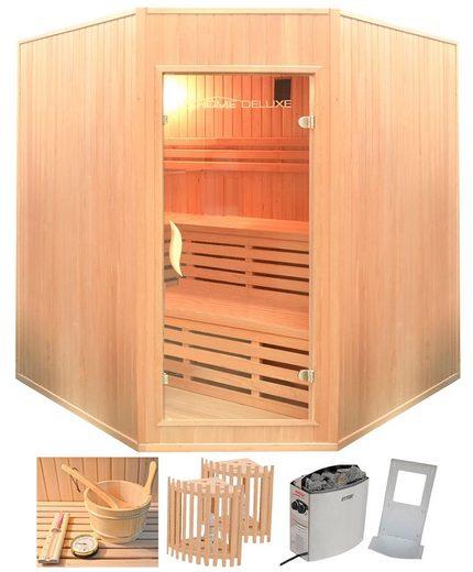 HOME DELUXE Sauna »Relax XL BIG«, 200x200x210 cm, 8 kW Ofen mit int. Steuerung