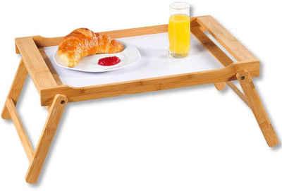 KESPER for kitchen & home Tablett »Bett-Tablett«, Bambus, MDF, mit ausklappbaren Füßen