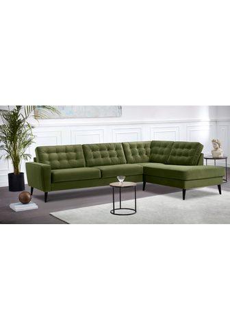 LEONIQUE Kampinė sofa su Kojų kėdutė »Tivoli« s...