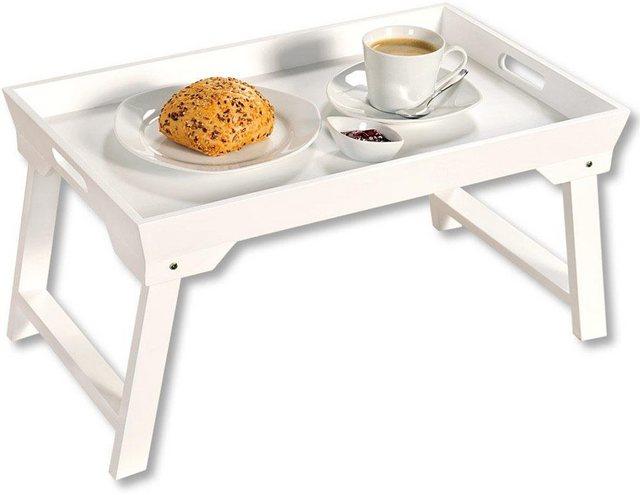 KESPER for kitchen & home Tablett »Bett-Tablett«, MDF, mit Klappfüßen