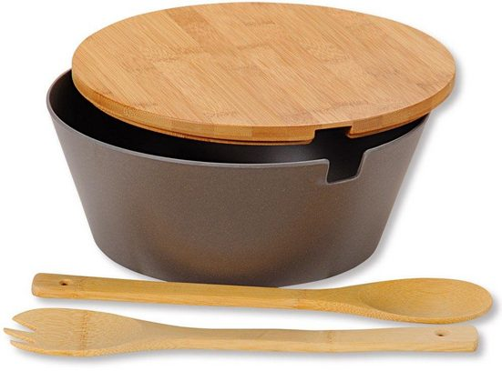 KESPER for kitchen & home Salatschüssel »Bamboo Fibre«, (Set, 4-tlg)