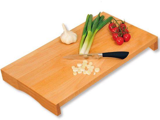 KESPER for kitchen & home Schneide- und Abdeckplatte, Buchenholz, Maße: 54 x 28 x 4 cm