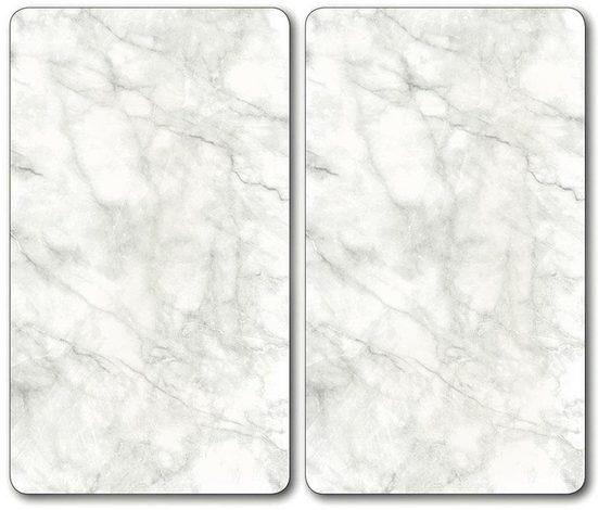 KESPER for kitchen & home Schneide- und Abdeckplatte »Marmor«, ESG-Sicherheitsglas, (Set, 2 tlg)