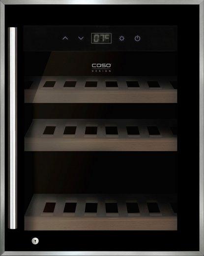 Caso Weinkühlschrank WineSafe 12 black, für 12 Standardflaschen á 0,75l