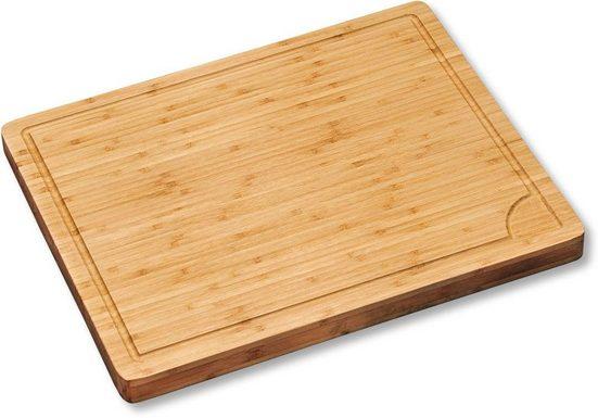 KESPER for kitchen & home Schneidebrett, Bambus, in Profi-Qualität