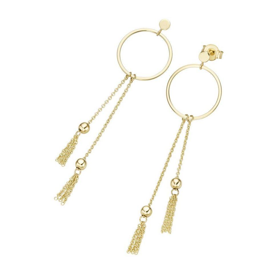 luigi merano paar ohrstecker ringe mit behang gold 585. Black Bedroom Furniture Sets. Home Design Ideas