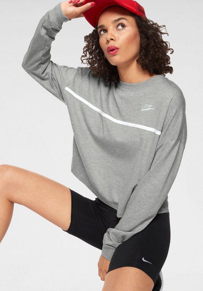 Damen Nike Sportswear Sweatshirt »W NSW CREW JERSEY« grau, schwarz | 00887230418931