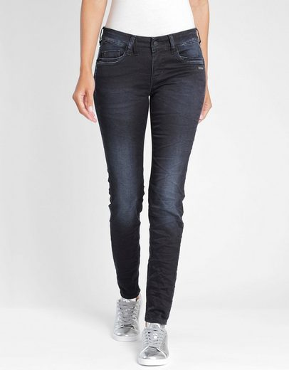 GANG Slim-fit-Jeans »Gioia« im tollen Used-Look