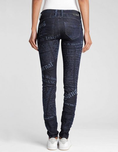 GANG Skinny-fit-Jeans »Nena« mit coolem Alloverprint