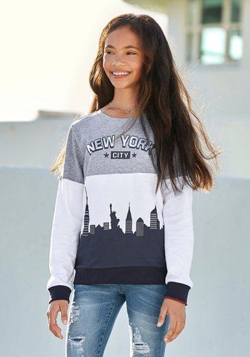 Arizona Sweatshirt mit New York - Druck