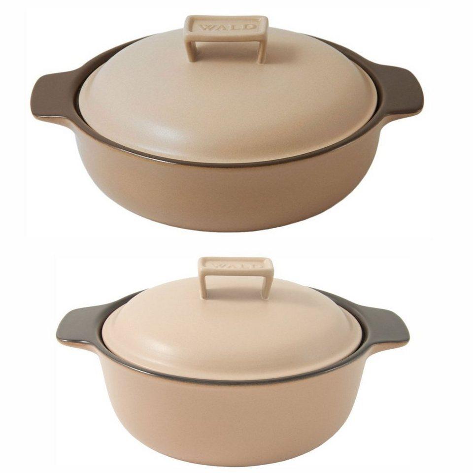 wald wald 2er set keramik kocht pfe induktion beige online. Black Bedroom Furniture Sets. Home Design Ideas