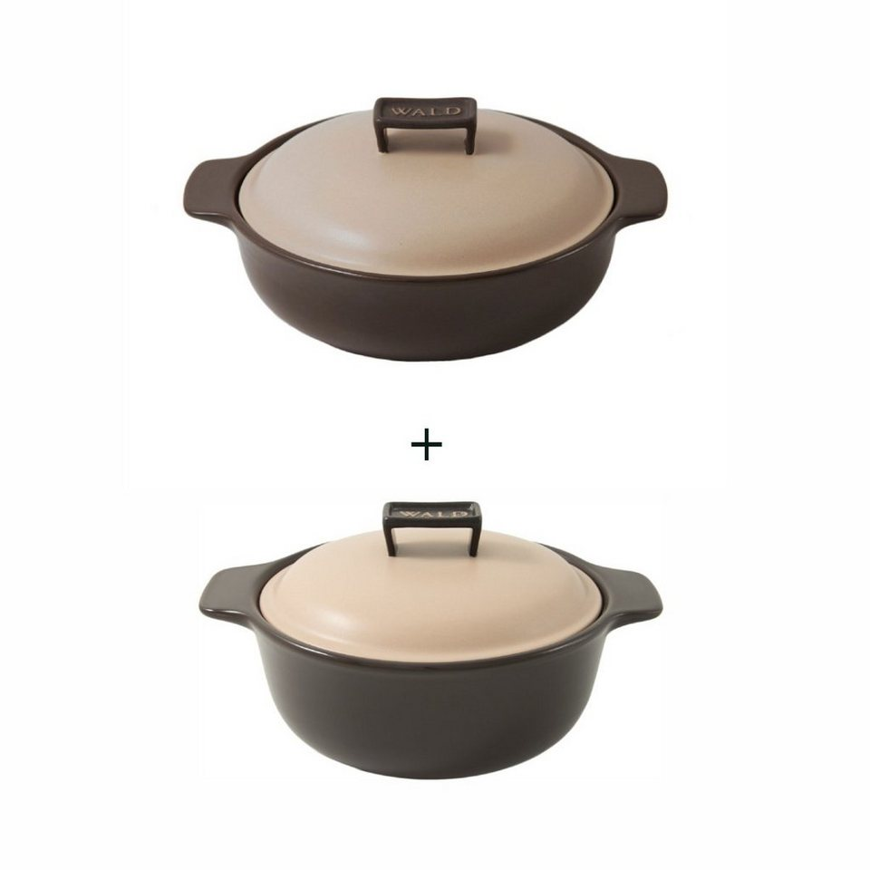 wald wald 2er set keramik kocht pfe induktion braun online. Black Bedroom Furniture Sets. Home Design Ideas