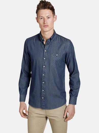 SHIRTMASTER Jeanshemd »greenwaters« Baumwollhemd in Jeans Optik