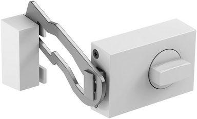BASI Türzusatzschloss »Dornmaß 45 mm - weiß (eckig), Sperrbügel«, Kastenschloss KS 500