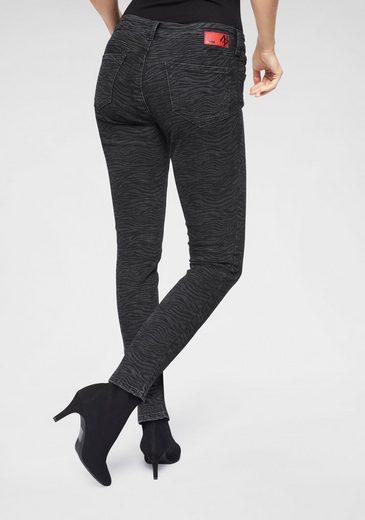 Mavi Skinny-fit-Jeans »ADRIANA« mit Zebramuster