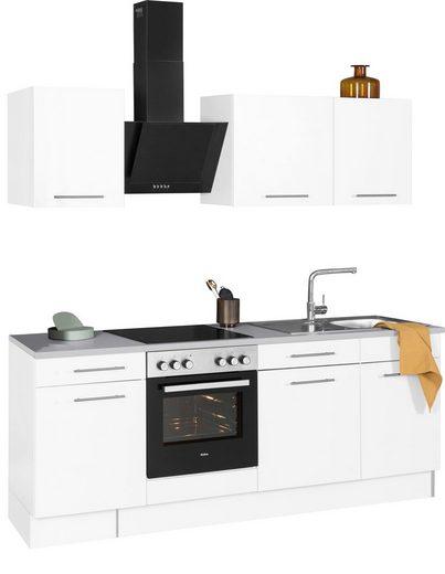 wiho Küchen Küchenzeile »Ela«, mit E-Geräten, Breite 220 cm