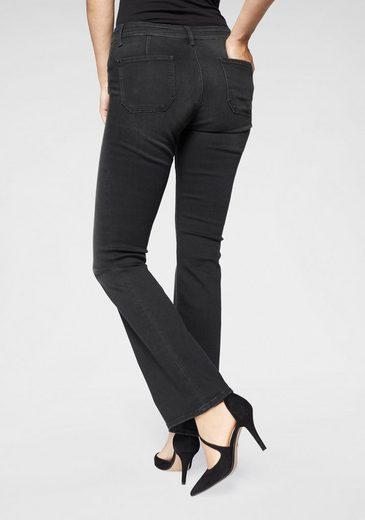Mavi Bootcut-Jeans »MEL« im Used-Look