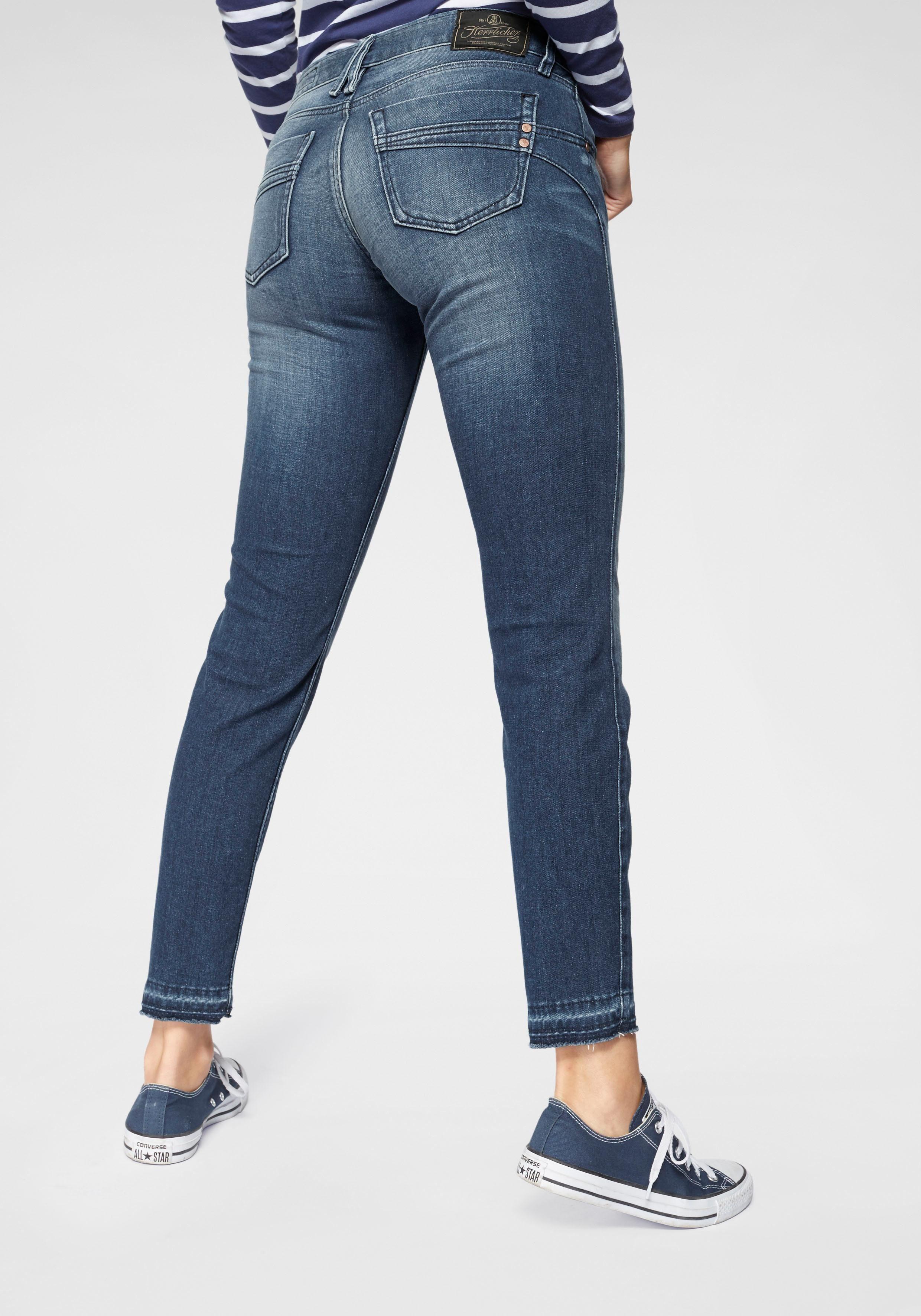 Herrlicher 78 Jeans »TOUCH CROPPED« Low Waist Ultra Stretch mit Cut Off Saum und Push up Effekt online kaufen | OTTO