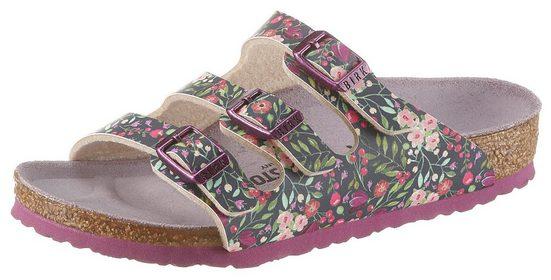 Birkenstock »Florida« Pantolette in schmaler Schuhweite, mit Blumendruck
