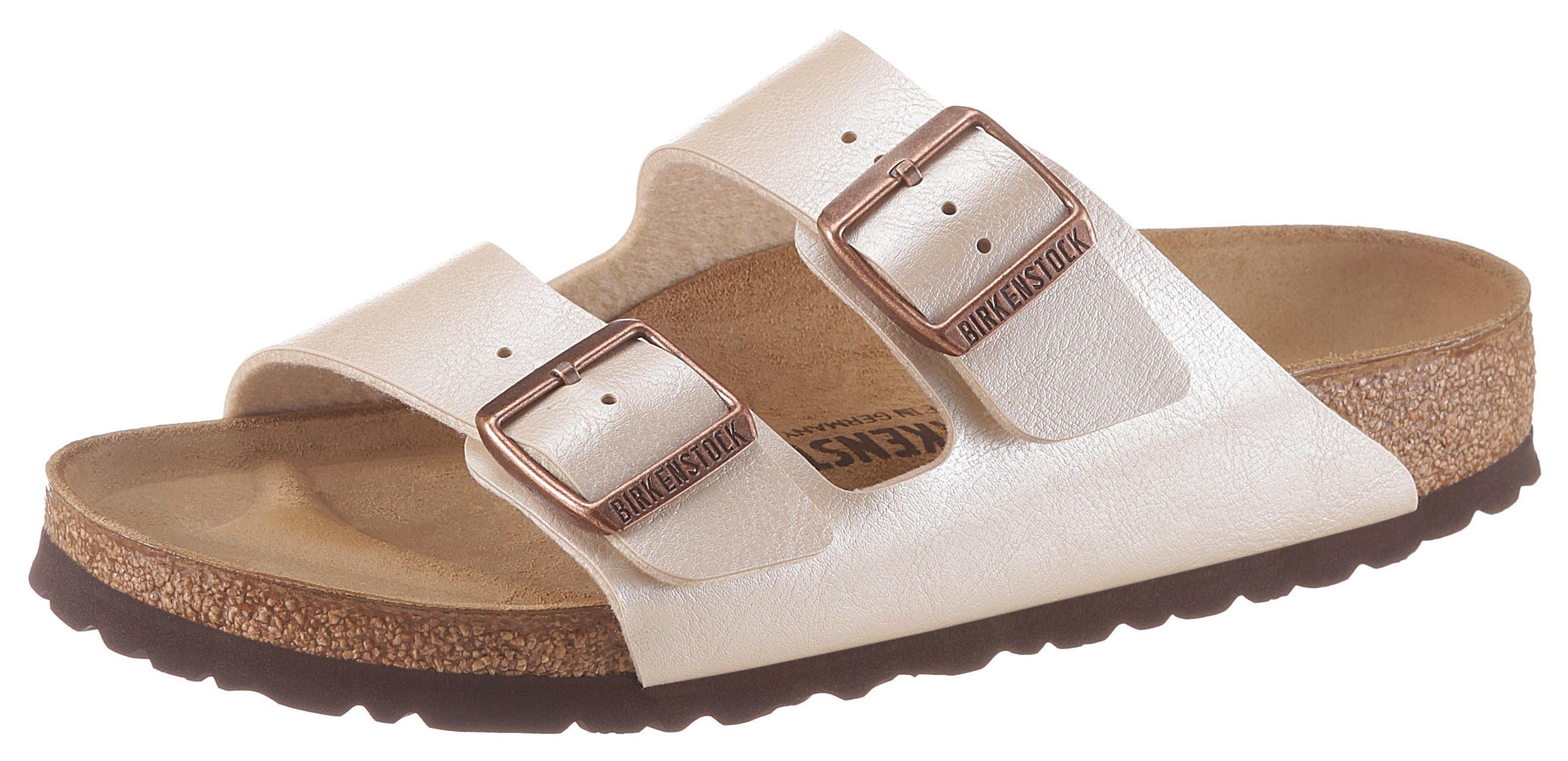 Birkenstock »ARIZONA« Pantolette mit vorgeformtem Fußbett, Schuhweite: schmal online kaufen | OTTO