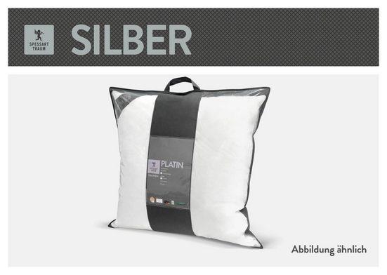 Baumwollkissen, »Silber«, SPESSARTTRAUM, (1-tlg), hergestellt in Deutschland, allergikerfreundlich