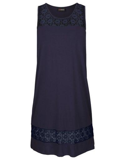 MIAMODA Jerseykleid mit leicht transparenter Spitze