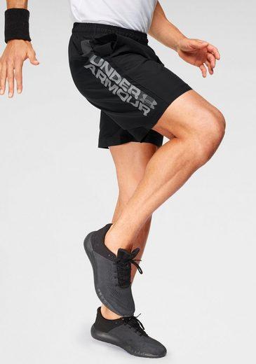 Under Armour® Shorts »Woven Graphic Wordmark Short Academy«