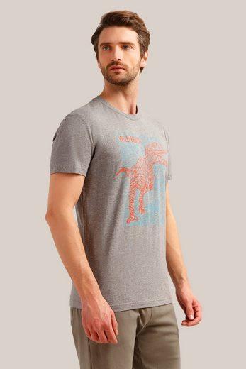 Finn Flare Kurzarmshirt mit kreativem Frontprint