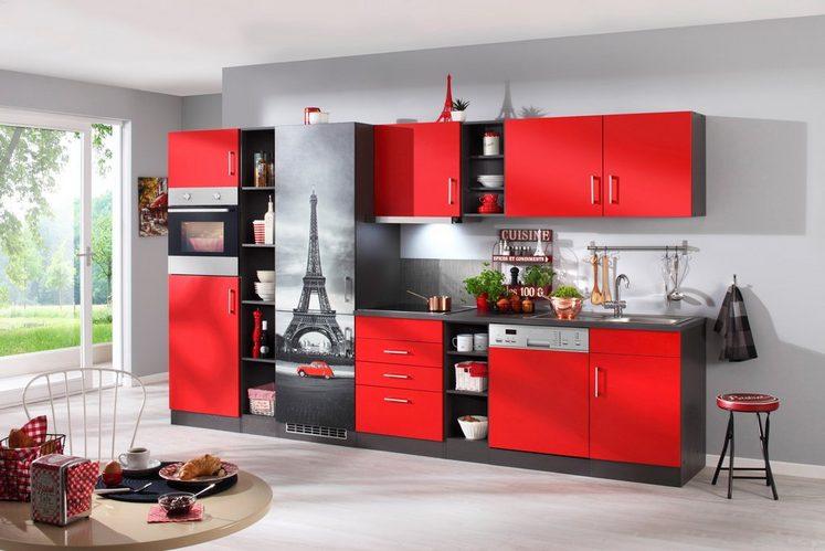 HELD MÖBEL Küchenzeile mit E-Geräten »Paris«, Breite 350 cm
