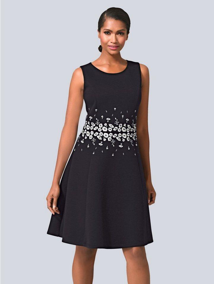 Festtagsmode - Alba Moda Kleid mit Stickerei › schwarz  - Onlineshop OTTO