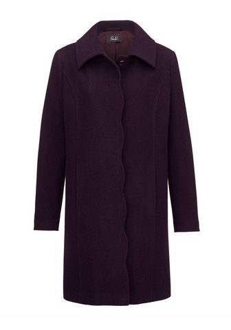 PAOLA Vilnonis paltas su gražus Wellenkante