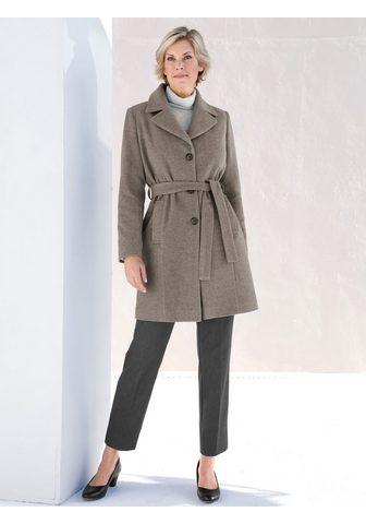 Пальто шерстяное с пояс