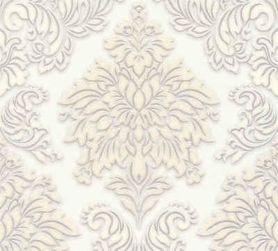 Vliestapete »Metropolitan Stories Lizzy London mit Glitzereffekt«,  Glitzermuster, ornamental, Barock, glänzend, strukturiert