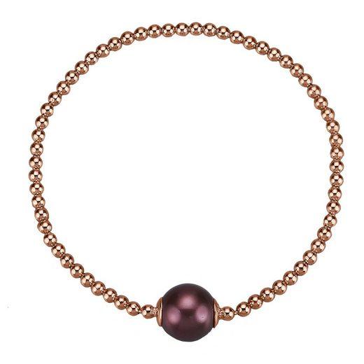 CELESTA Armband »925/- Sterling Silber rotvergoldet Perle«