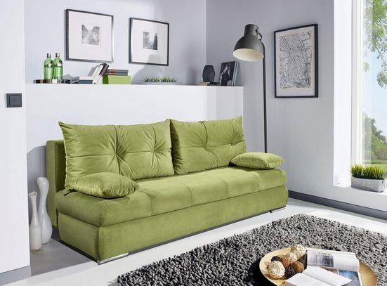 Home affaire Schlafsofa »Laelia«, mit praktischer Bettfunktion, ideal für kleine Räume