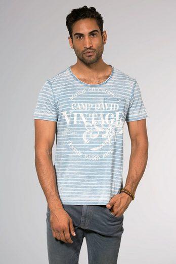 CAMP DAVID T-Shirt mit offenen Kanten