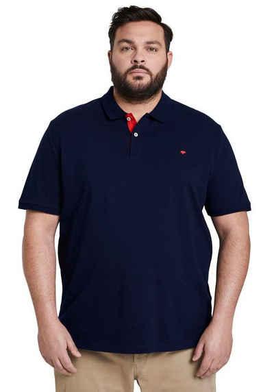 TOM TAILOR Men Plus Poloshirt mit Logostickerei