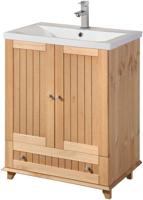 Waschtische - welltime Waschtisch »Venezia«, Breite 60 cm, aus Massivholz  - Onlineshop OTTO