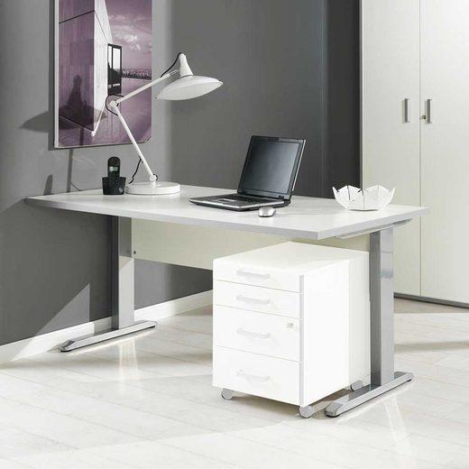 Pharao24 Schreibtisch »Uninella«, mit Knieraumblende