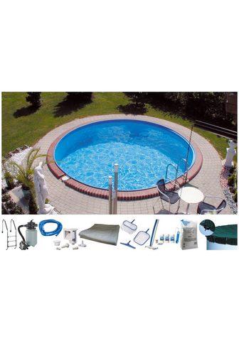 MYPOOL Rinkinys: apvalus baseinas »Premium« 1...
