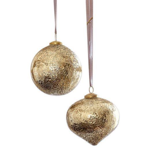 Loberon Weihnachtsschmuck 2er Set »Goldie«