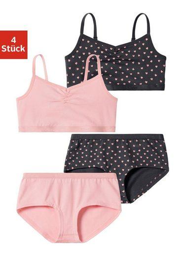 s.Oliver Bodywear Set: Bustier (4-tlg) mit Panty im Farbmix